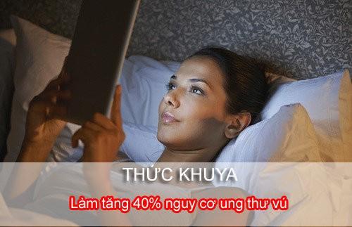 không thức khuya tránh ung thư vú