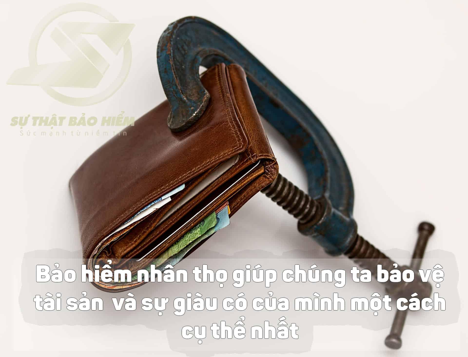 Bảo hiểm nhân thọ giúp chúng ta bảo vệ tài sản và sự giày có của mình một cách cụ thể nhất.