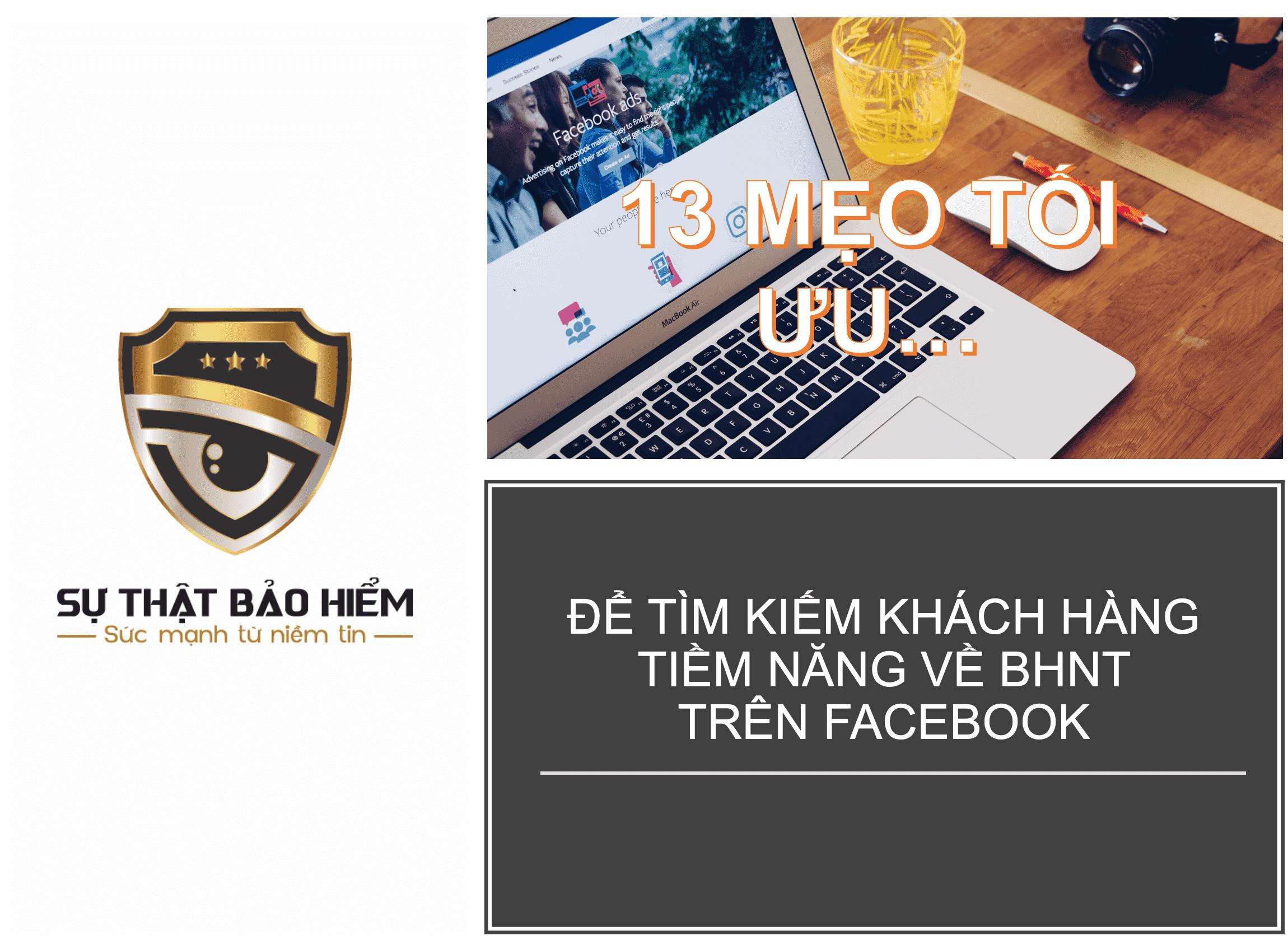 13 meo toi uu facebook de tim kiem khach hang bao hiem